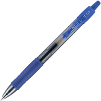 Pilot G2 Retractable Gel Ink Rollerball Pen Fine Point Blue 1x